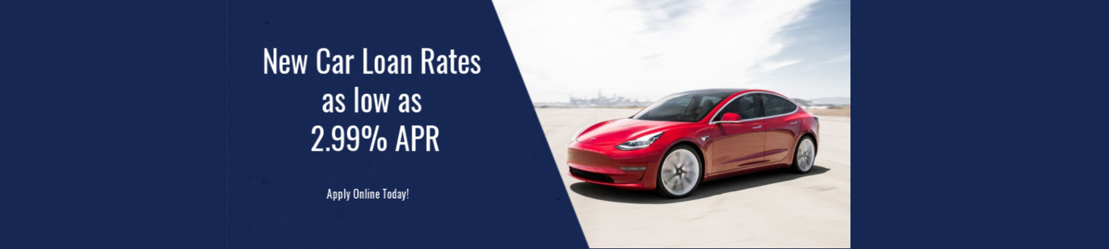New car loan rates as low as 2.99%